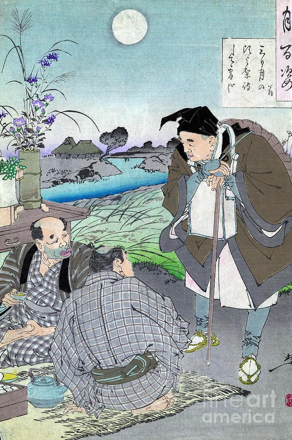 19th Century Photograph - Matsuo Basho, 1644-1694 by Granger