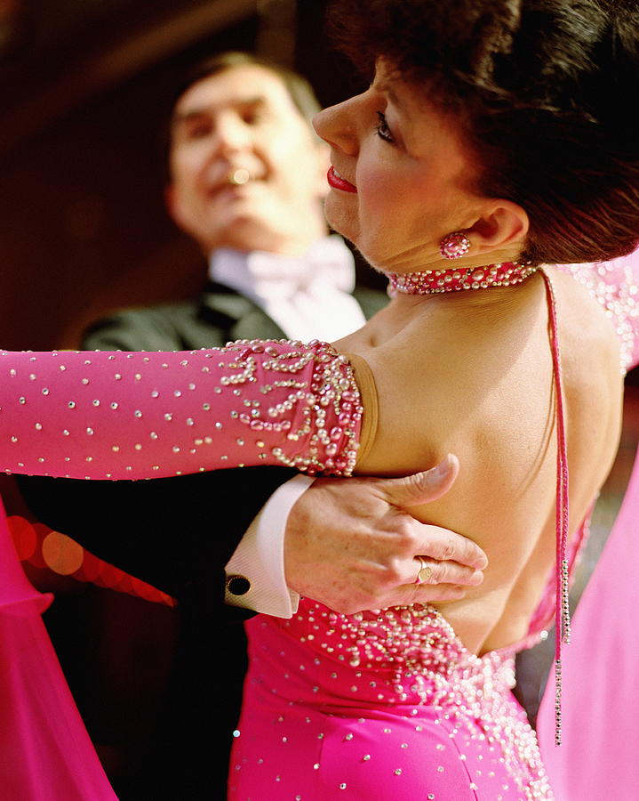 Mature Couple Ballroom Dancing, Close-up Photograph by David Woolley