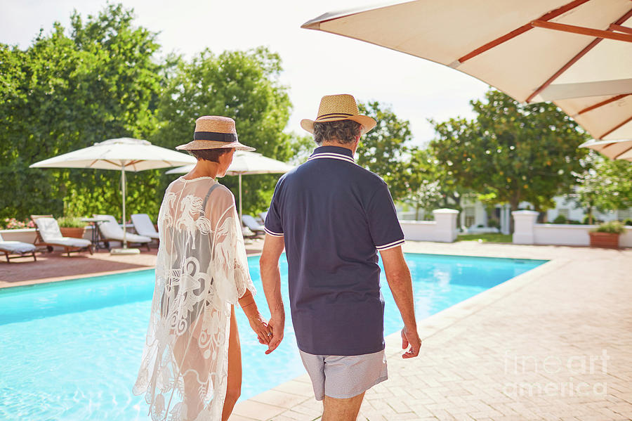 Bonding Photograph - Mature Couple Holding Hands by Caia Image/science Photo Library