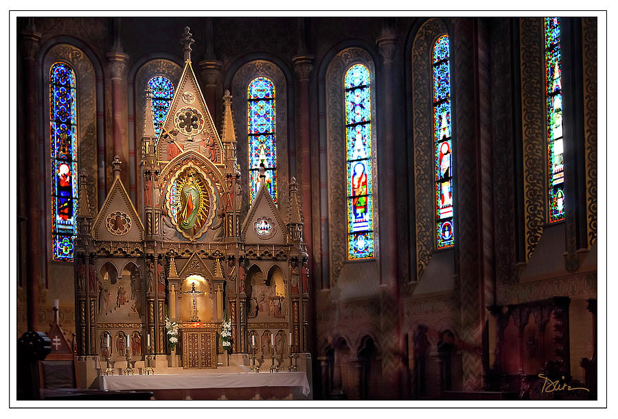 Matyas Church Altar in Budapest by Peggy Dietz