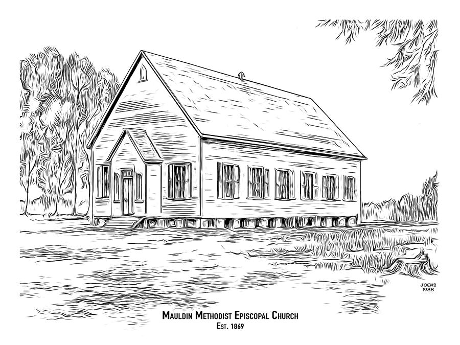 Mauldin Methodist Episcopal Drawing