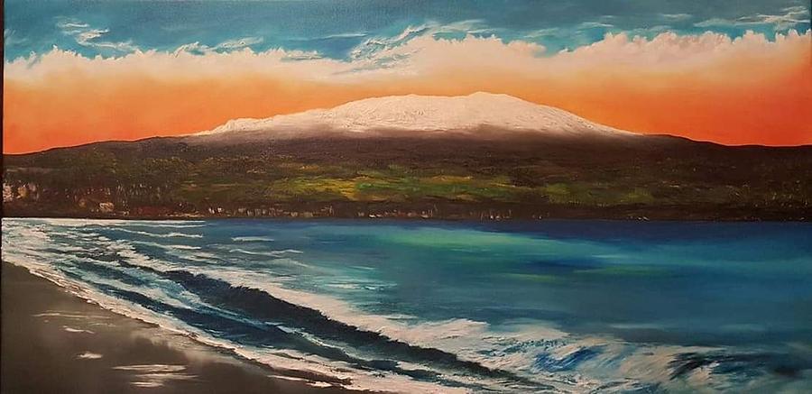 Mauna Kea in her splendor Painting by Jacky Waiau