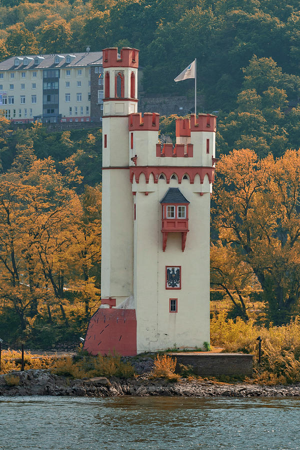 Mauseturm Toll Tower Rhine River Germany IMG_8248-2009 by Greg Kluempers