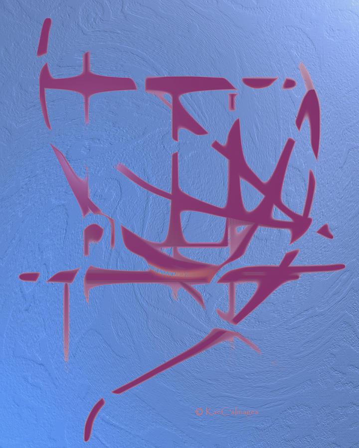 Mauve on Blue Texture by Kae Cheatham