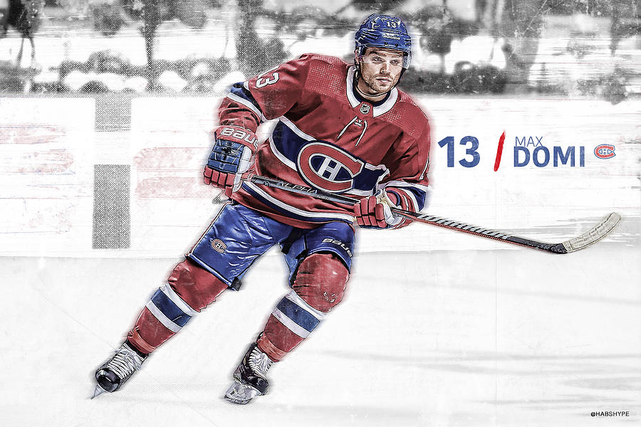 5706c51f15c Max Domi Montreal Canadiens Digital Art by Nicholas Legault