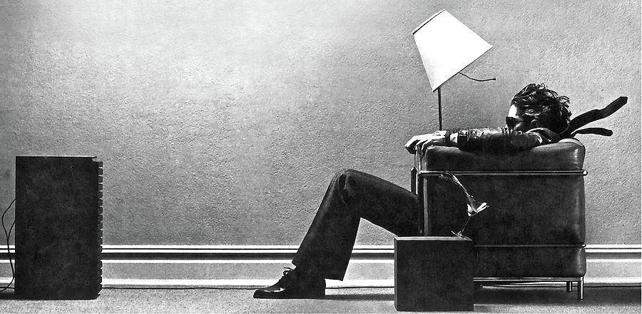 Blown Away Digital Art - Maxell Ad Blown Away Guy by Thomas Pollart
