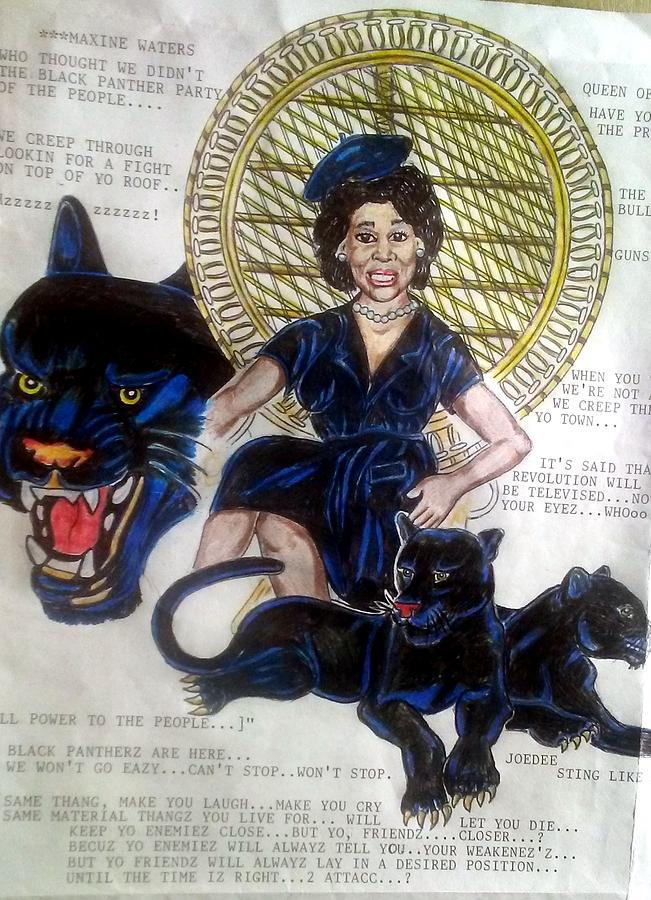 Maxine Waters Queen Of Throne by Joedee