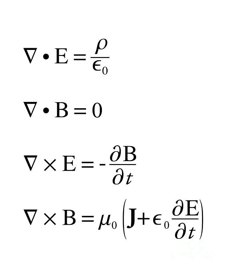 Equation Photograph - Maxwells Equations by Science Photo Library