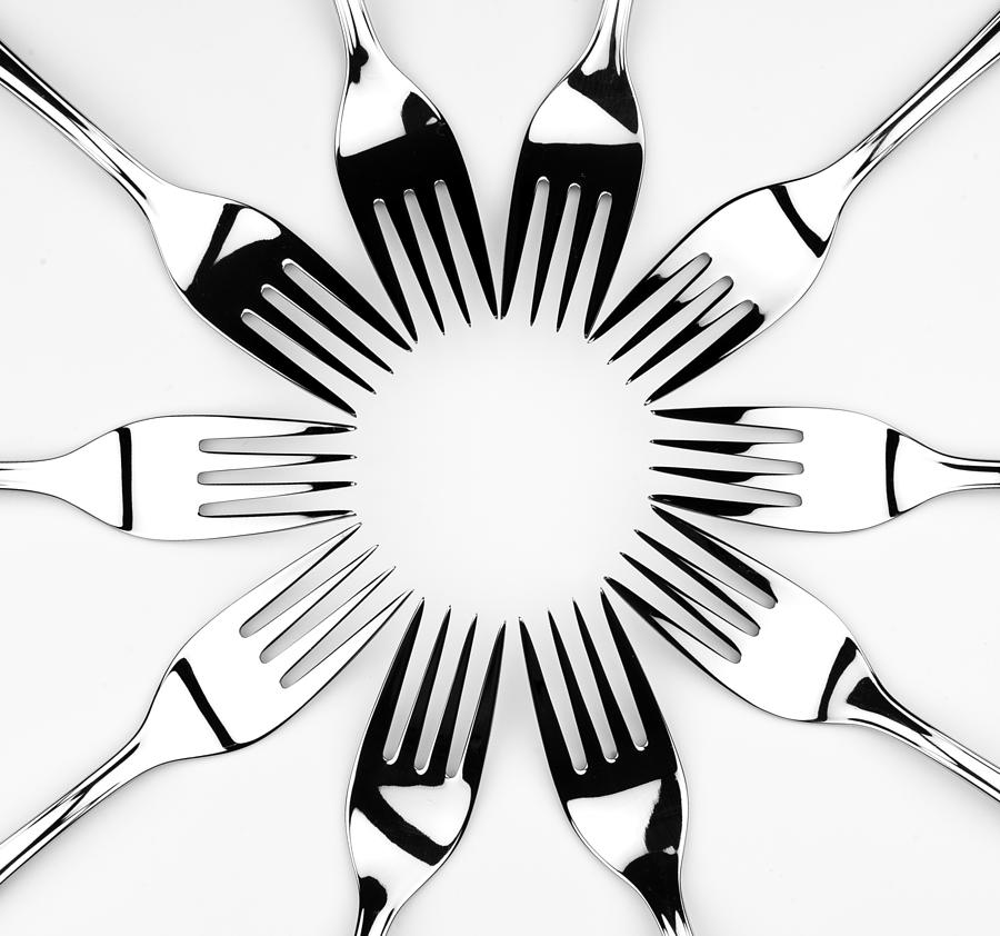 Fork Photograph - May The Fork Be With You by Øystein Rye Eriksen