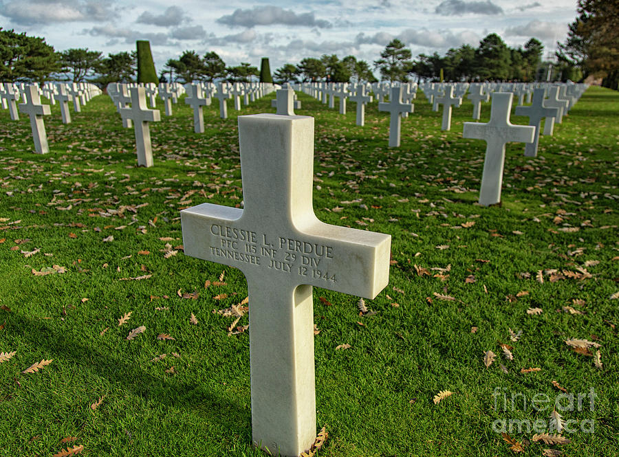 May They Rest In Peace American Cemetery and Memorial Omaha Beach Normandy France  by Wayne Moran