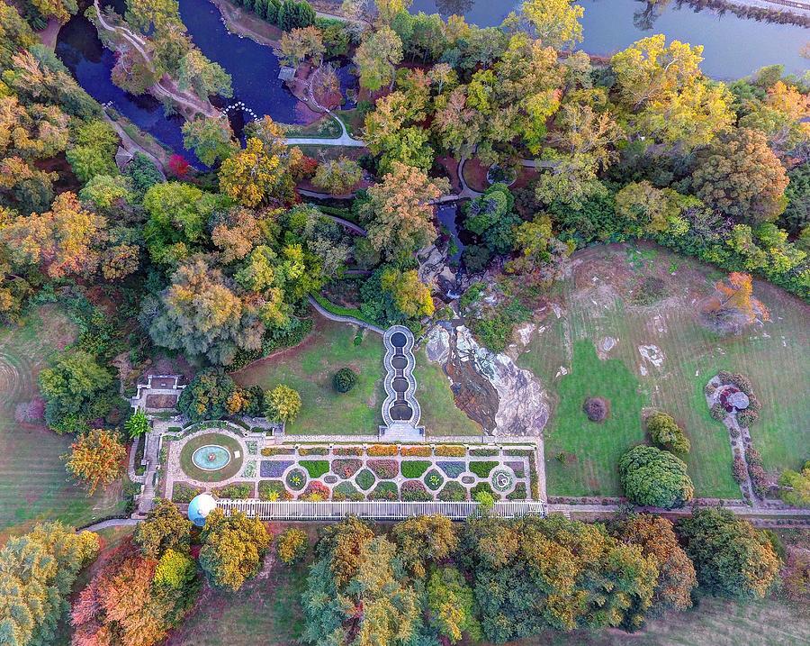 Maymont Park Photograph - Maymont Gardens by Tredegar DroneWorks