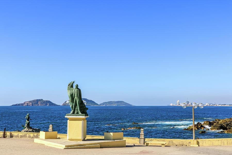 Mazatlan Malecon View by Dawn Richards