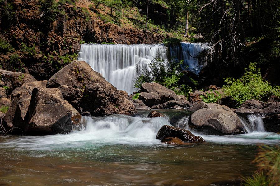 Falls Photograph - McCloud Middle Falls by John Heywood