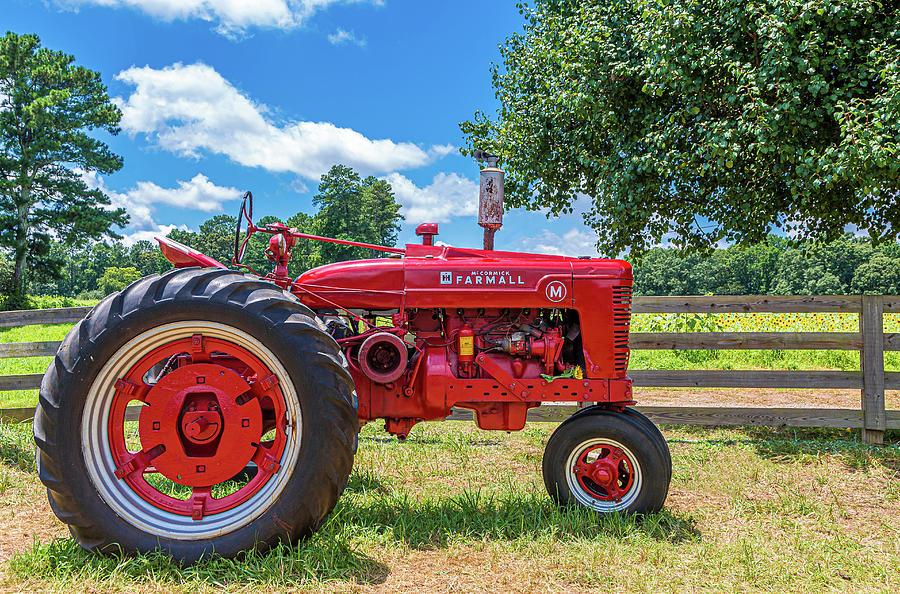 McCormick Farmall on Farm by Darryl Brooks