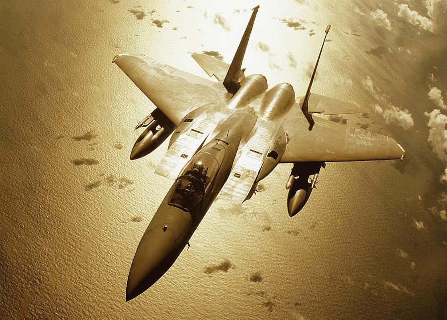 Mcdonnell Douglas F-15 Eagle In Flight Photograph by Stocktrek