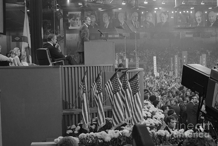 Mcgoverns Acceptance Speech At Dem Nat Photograph by Bettmann
