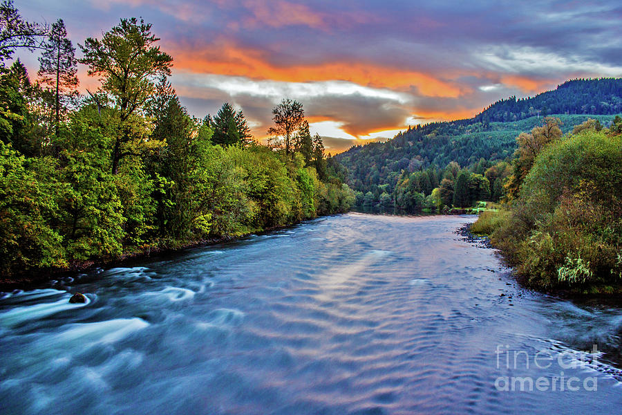 McKenzie River Sunrise 2 by Michael Cross