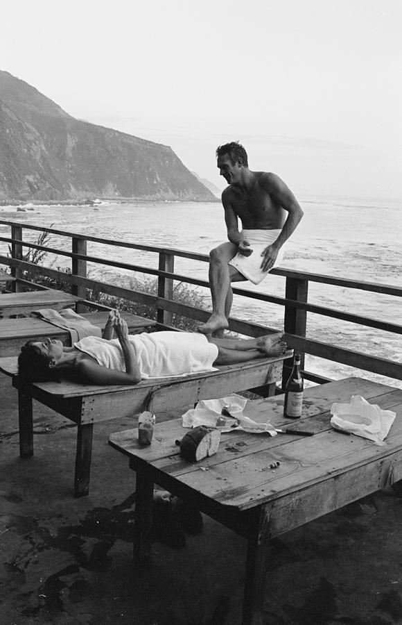 Mcqueen & Adams Relax In Big Sur Photograph by John Dominis