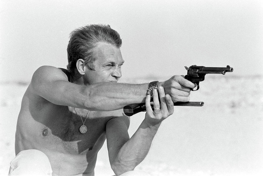 Mcqueen At Target Practice Photograph by John Dominis