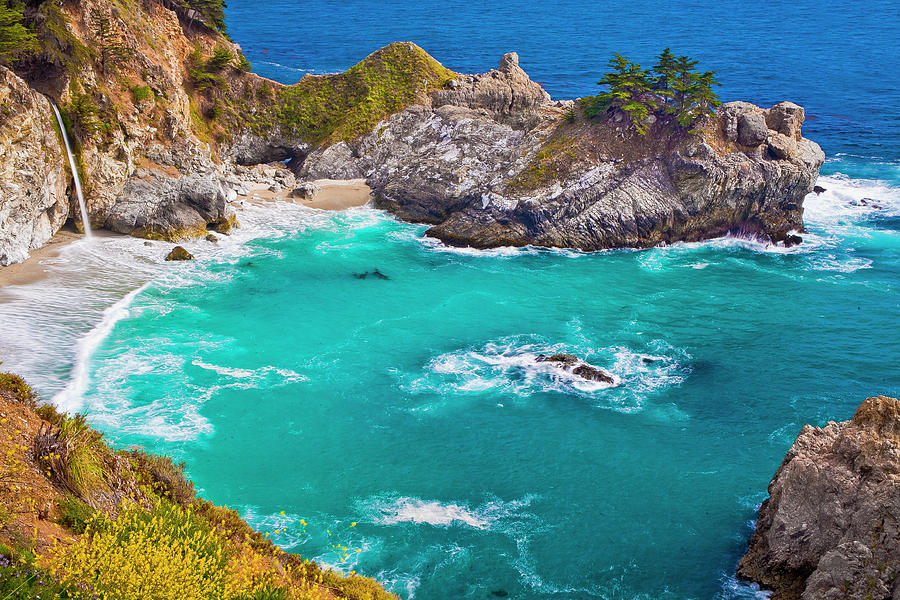 California Photograph - Mcway Falls by Fernando Margolles