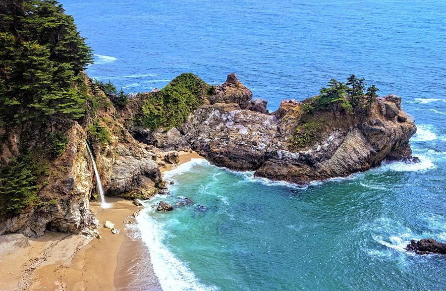 McWay Falls on the Big Sur Coast by Carolyn Derstine