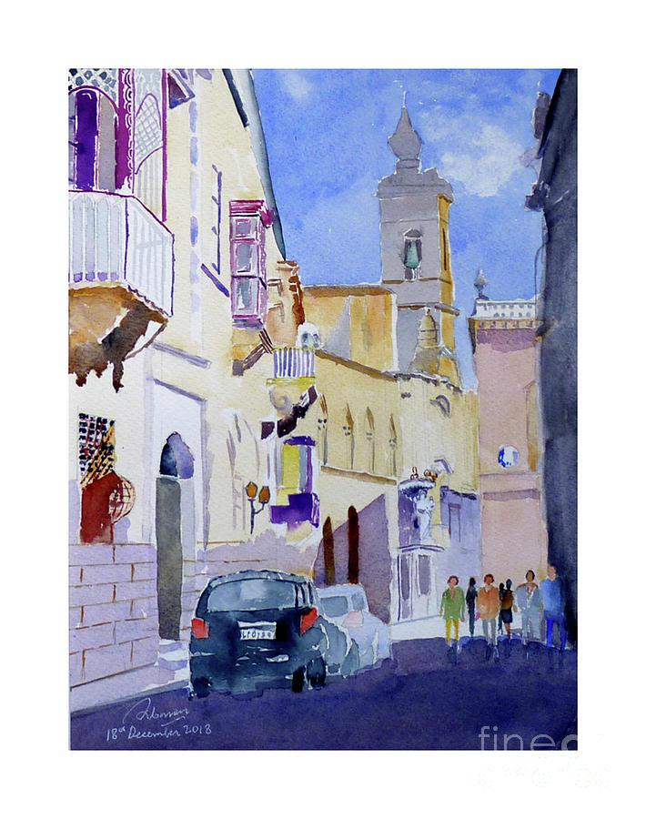 Mdina Villegaignon Street by Godwin Cassar