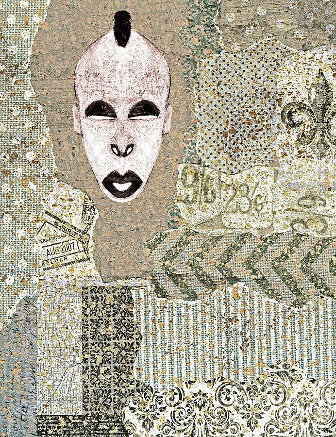 Brown Digital Art - Mdomo Mask Collage 3 by Regina Wyatt