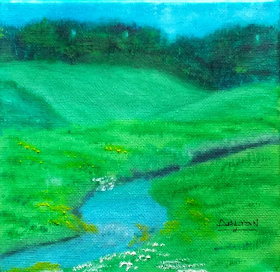 Meadow Painting - Meadow Beauty by George Dalton