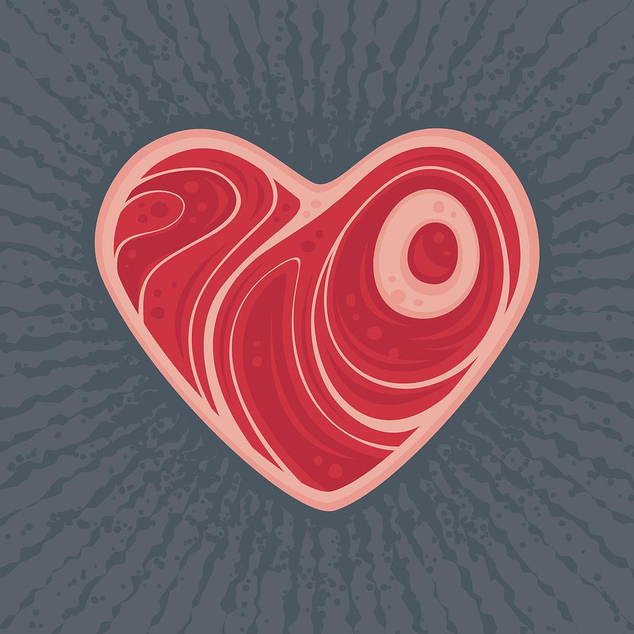 Meat Heart Digital Art