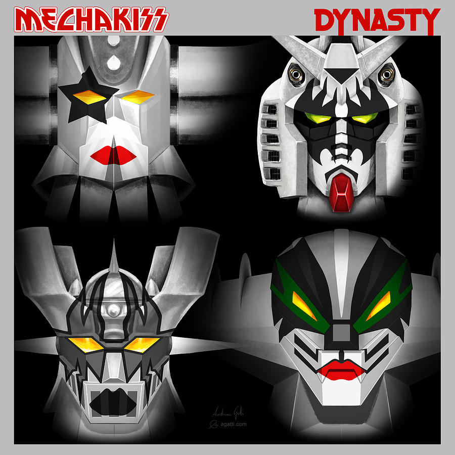 Mecha Kiss Dynasty Digital Art