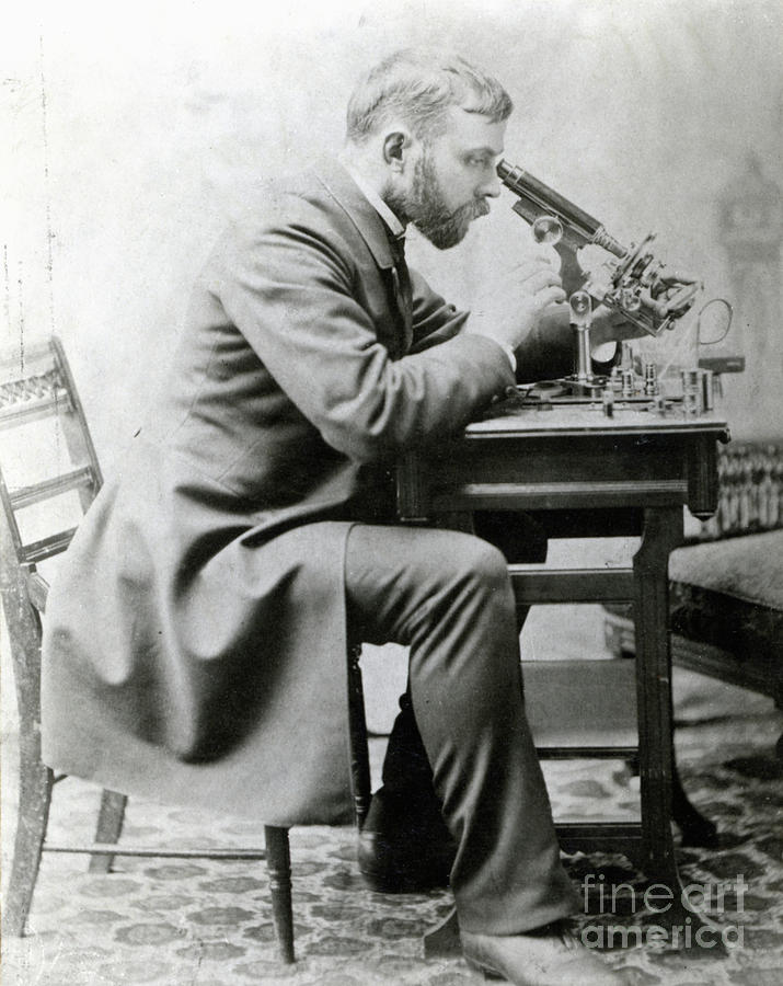 Medical Student At Microscope Photograph by Bettmann