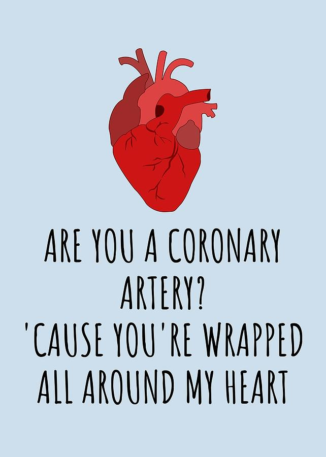 Medical Valentine S Day Card Cute Medical Valentine Card For Doctor Or Med Student Coronary