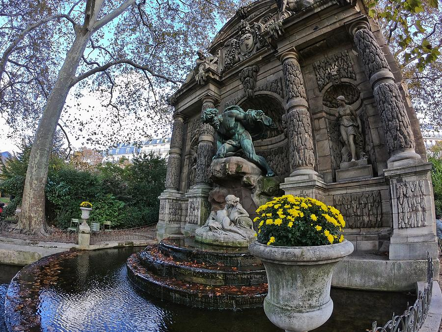 Medici Fountain In Luxembourg Gardens - Paris - France Photograph