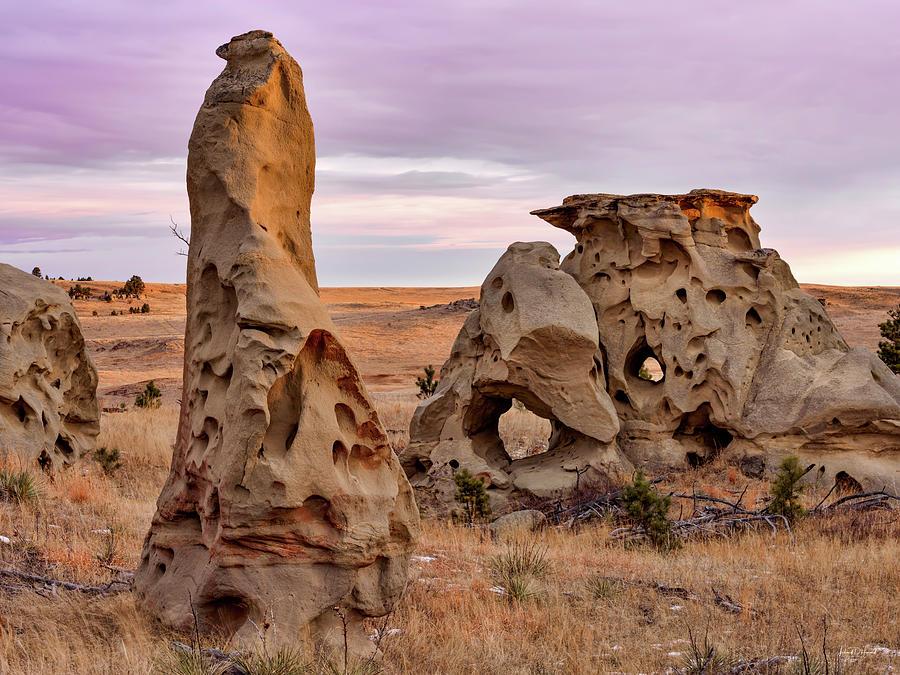 Balance Photograph - Medicine Rocks Sandstone by Leland D Howard