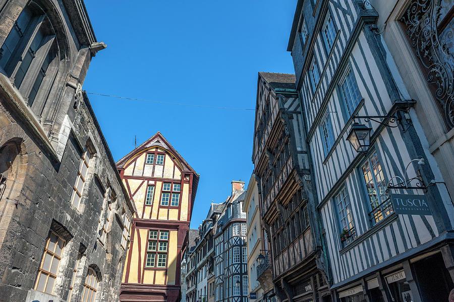 Architecture Photograph - Medieval Architecture, Rouen, Normandy by Lisa S. Engelbrecht
