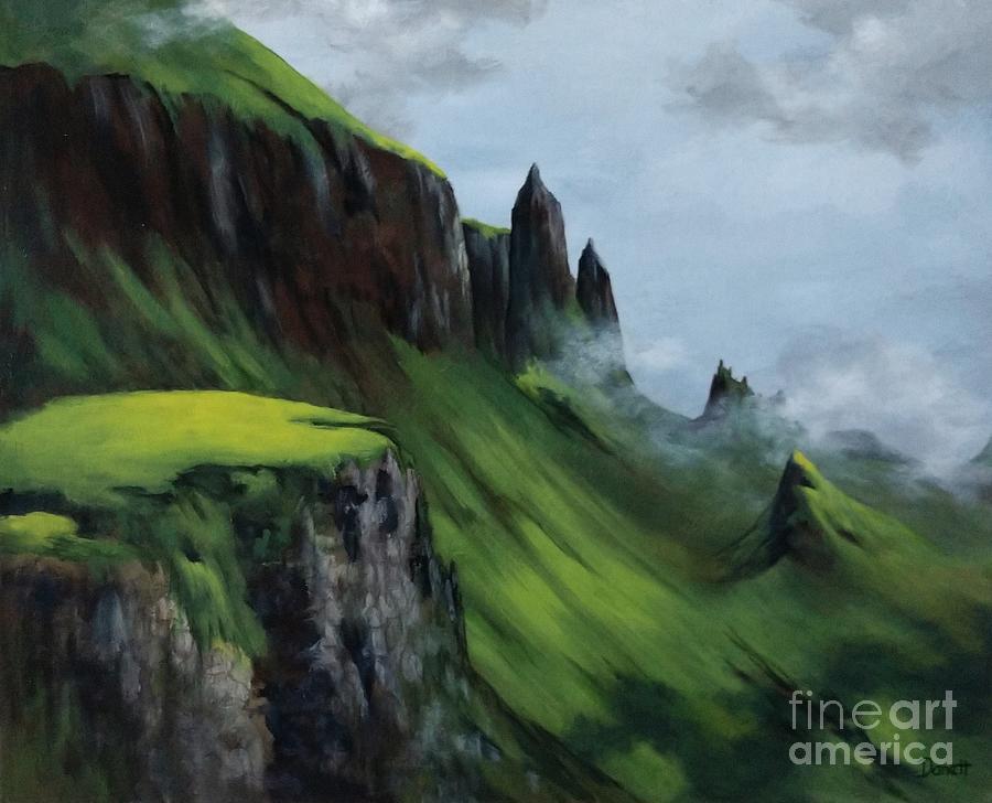 Scotland Painting - Medieval Beauty-scotland by Danett Britt