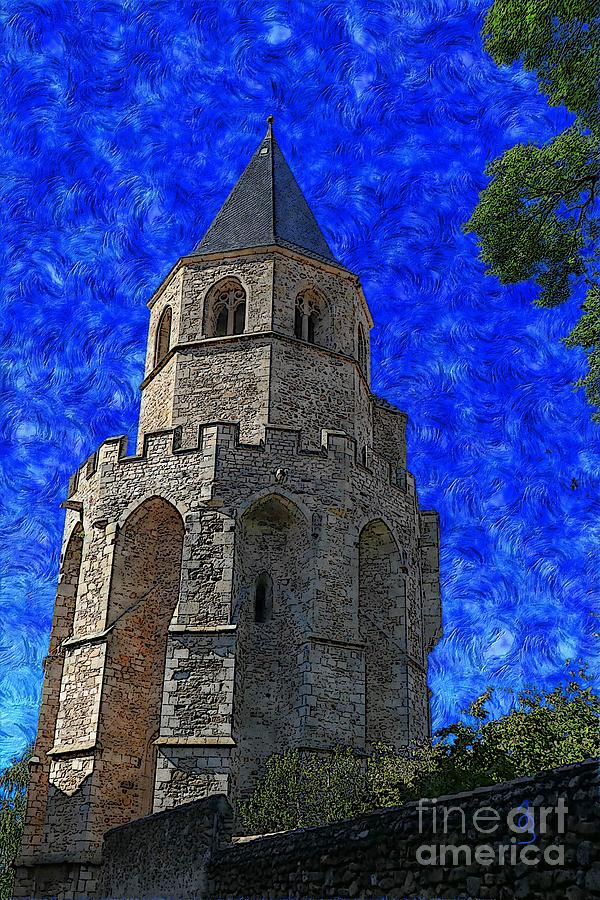 Angel Digital Art - Medieval Bell Tower 4 by Jean Bernard Roussilhe