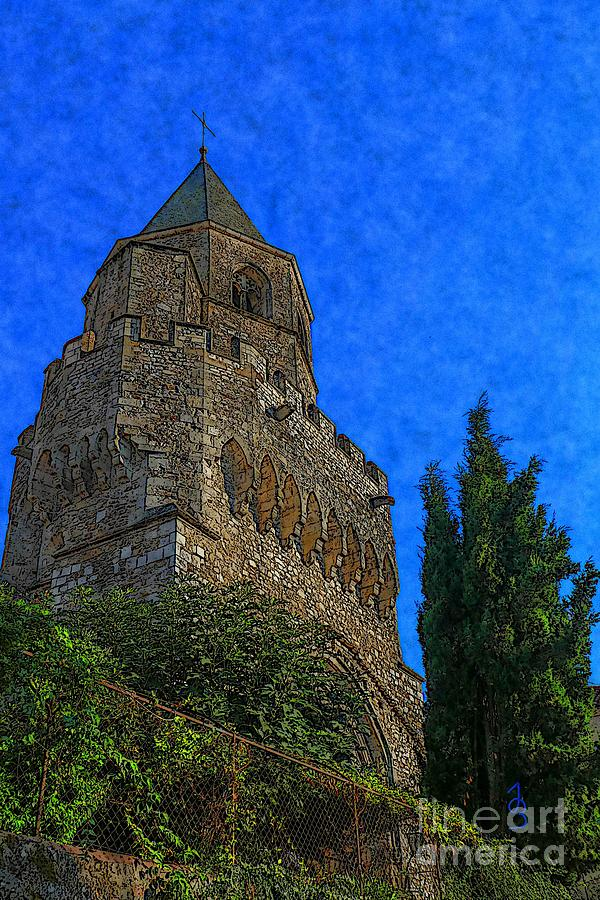 Angel Digital Art - Medieval Bell Tower 5 by Jean Bernard Roussilhe