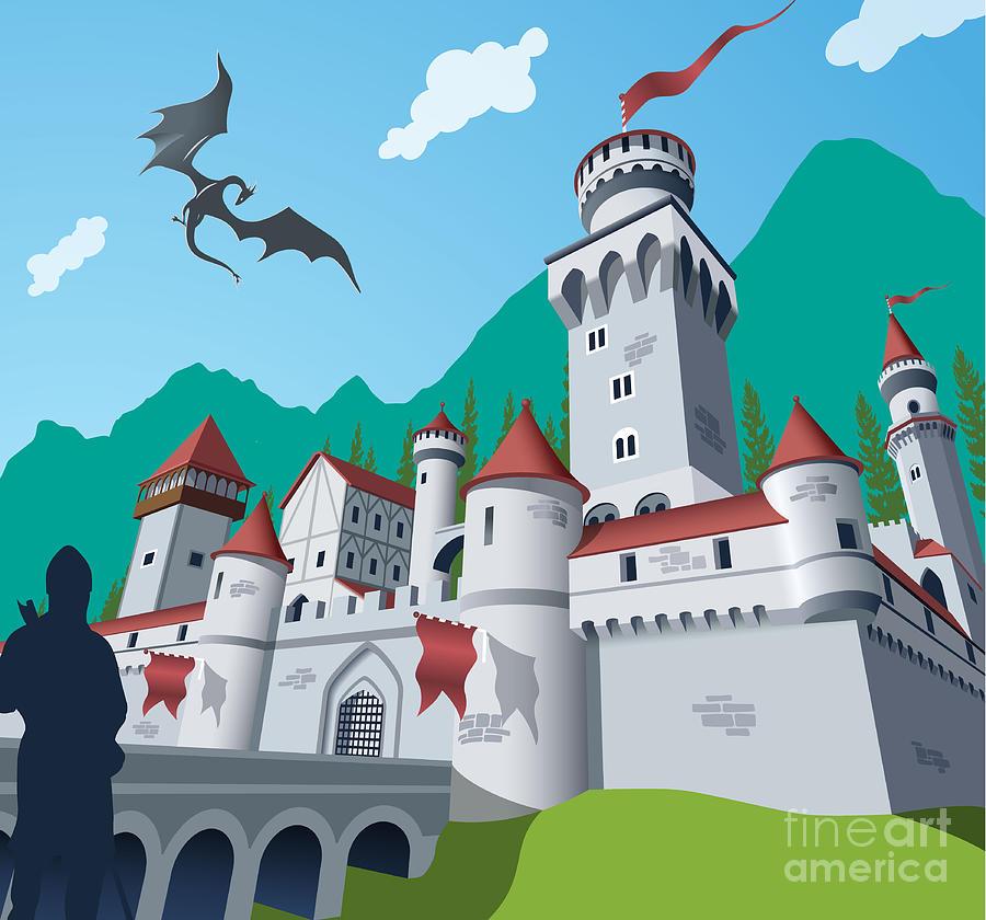 Capital Digital Art - Medieval Castle by Nikola Knezevic