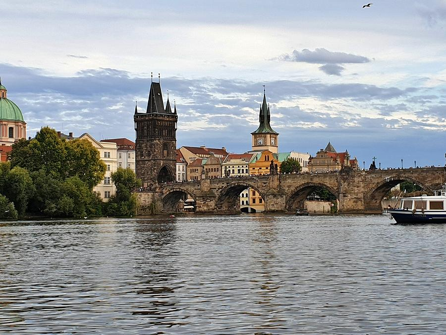 Medieval Charles Bridge by Andrea Whitaker