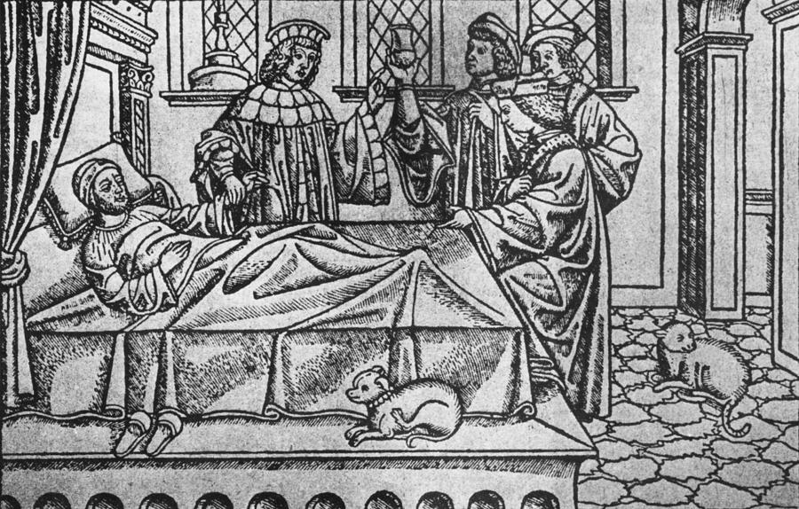 Medieval Doctors Photograph by Hulton Archive