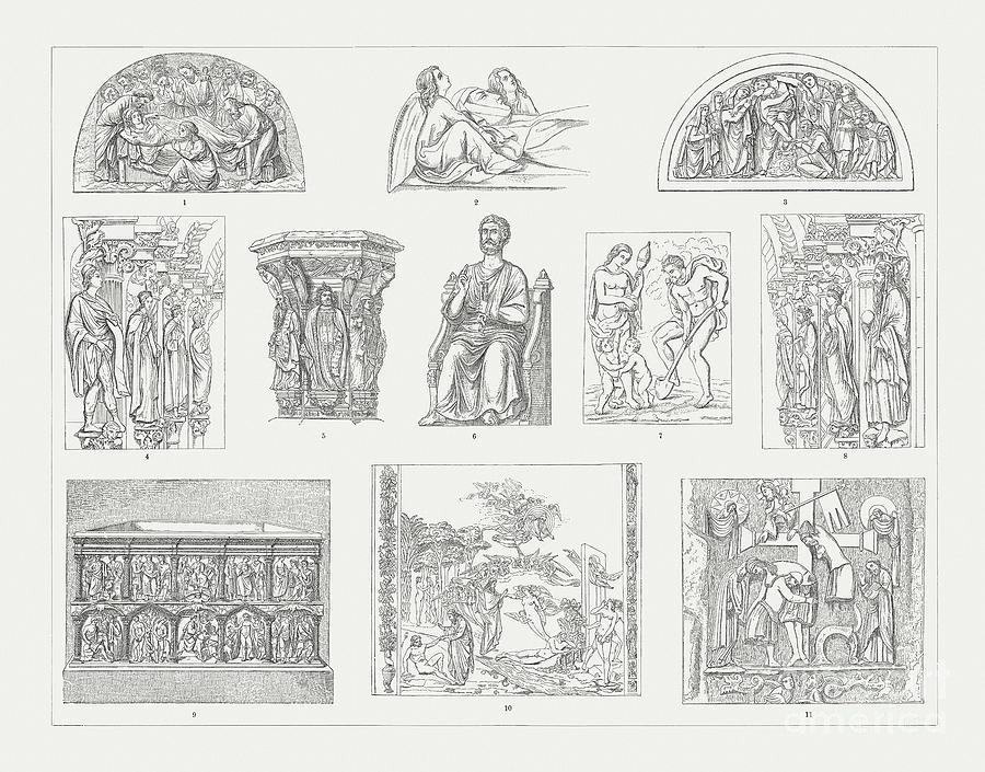 Medieval Sculpture Art, Wood Digital Art by Zu 09