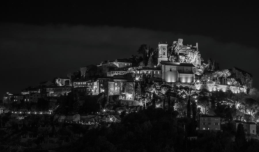 Medieval Village of Eze, Provence - Black and White - Series 1 of 16 by Carl Amoth