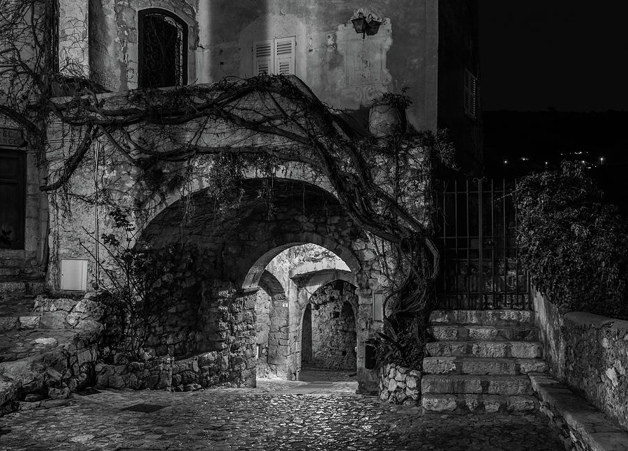 Medieval Village of Eze, Provence - Black and White - Series 11 of 16 by Carl Amoth