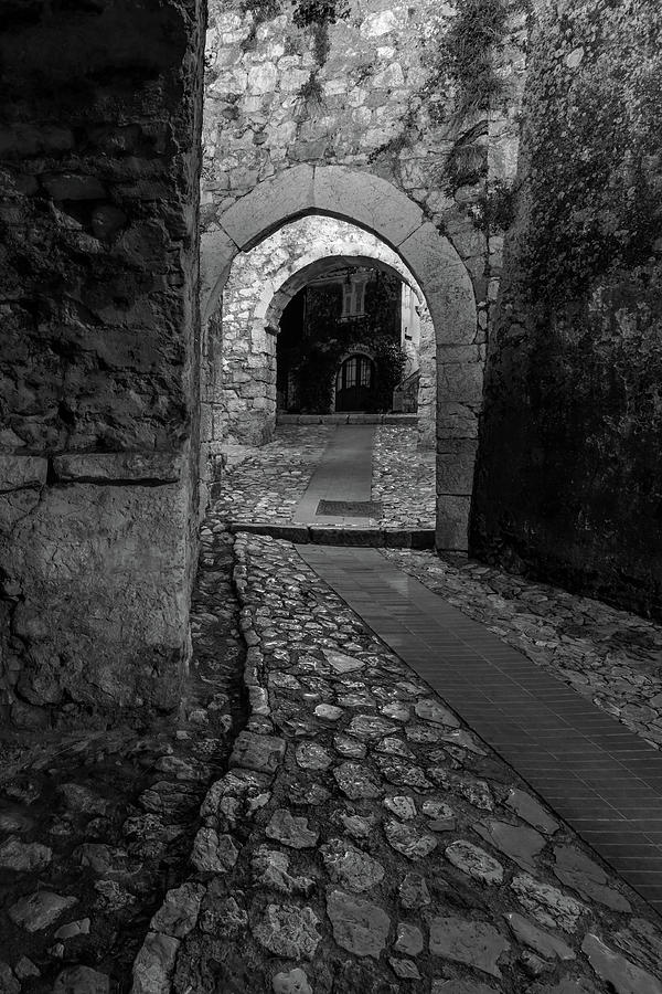 Medieval Village of Eze, Provence - Black and White - Series 12 of 16 by Carl Amoth