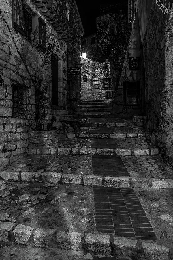 Medieval Village of Eze, Provence - Black and White - Series 14 of 16 by Carl Amoth