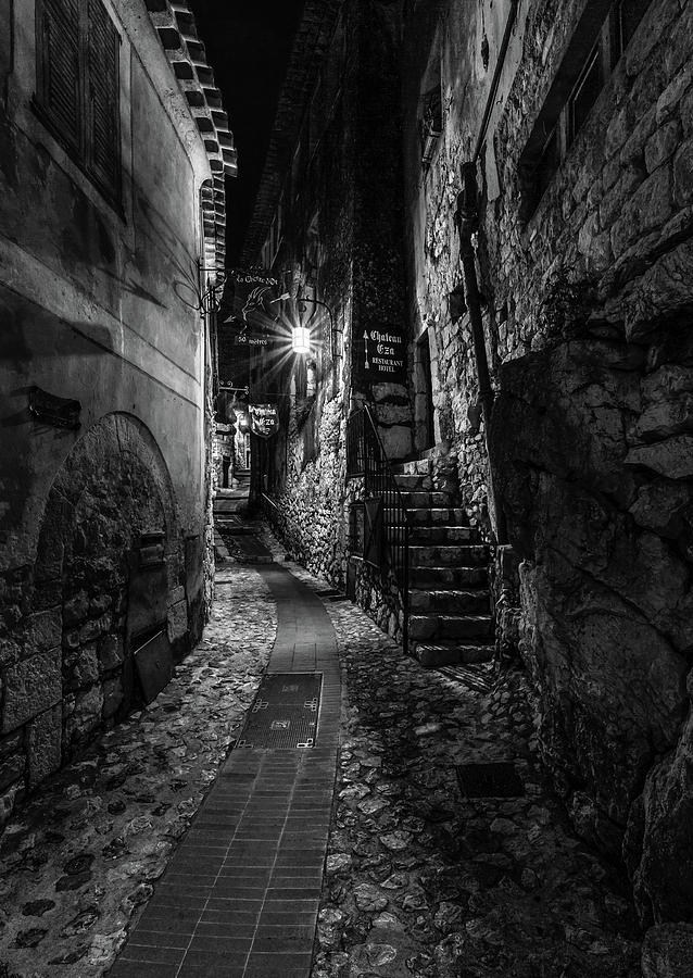 Medieval Village of Eze, Provence - Black and White - Series 2 of 16 by Carl Amoth