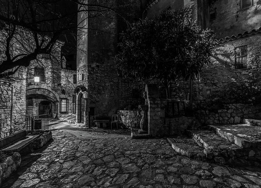 Medieval Village of Eze, Provence - Black and White - Series 3 of 16 by Carl Amoth