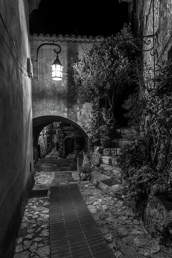 Medieval Village of Eze, Provence - Black and White - Series 4 of 16 by Carl Amoth