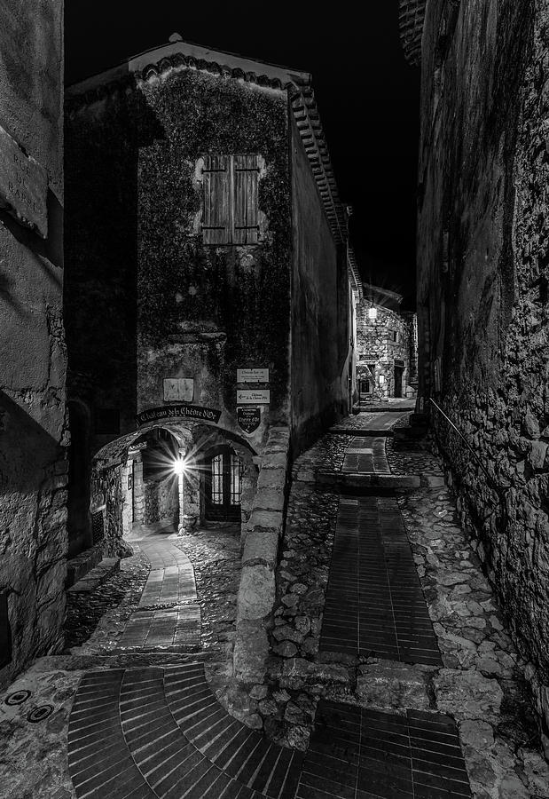 Medieval Village of Eze, Provence - Black and White - Series 5 of 16 by Carl Amoth